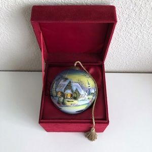 Inner Beauty Isabella Angelini Sweet Home Christmas Ornament Reverse Painted